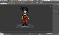 3d max gohan rigged