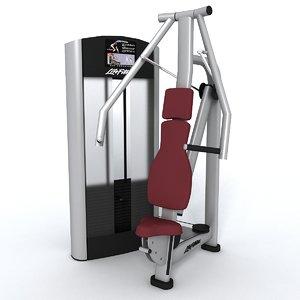 gym equipment chest press 3d model