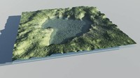 cinema4d lake terrain