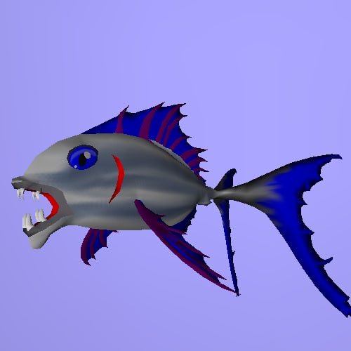 3d model fish rigged