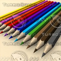 3d pencil colors model