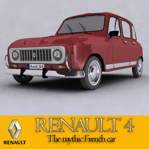 french car renault 4 3d model