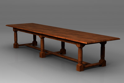 refectory table 3d model