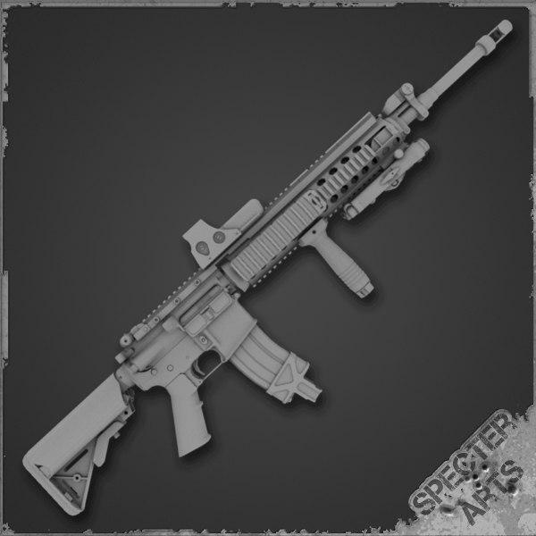 3d ar15 rifle tactical