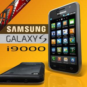 samsung galaxy s i9000 3d model
