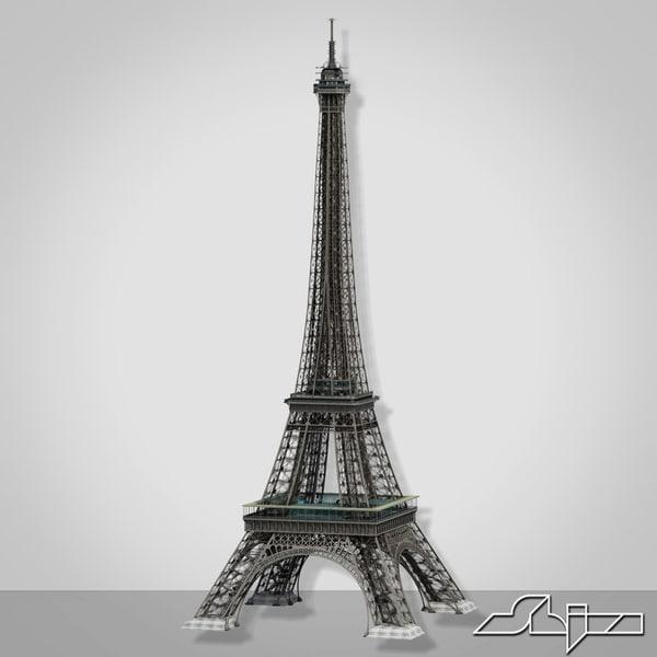 eiffel tower 3d 3ds