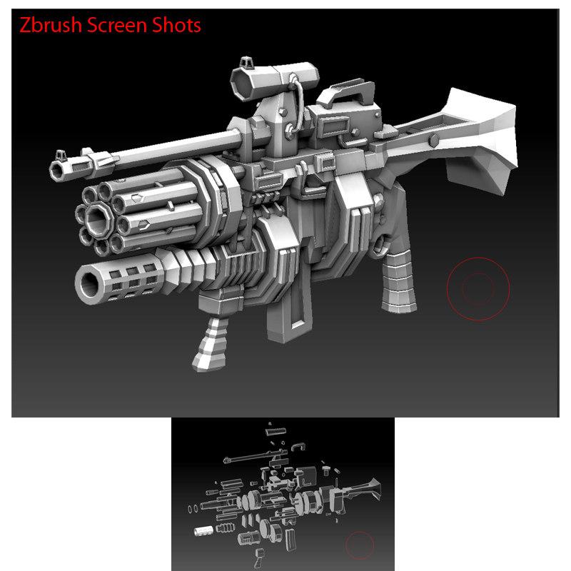 3d big weapon gun model