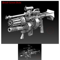 3d big weapon gun model