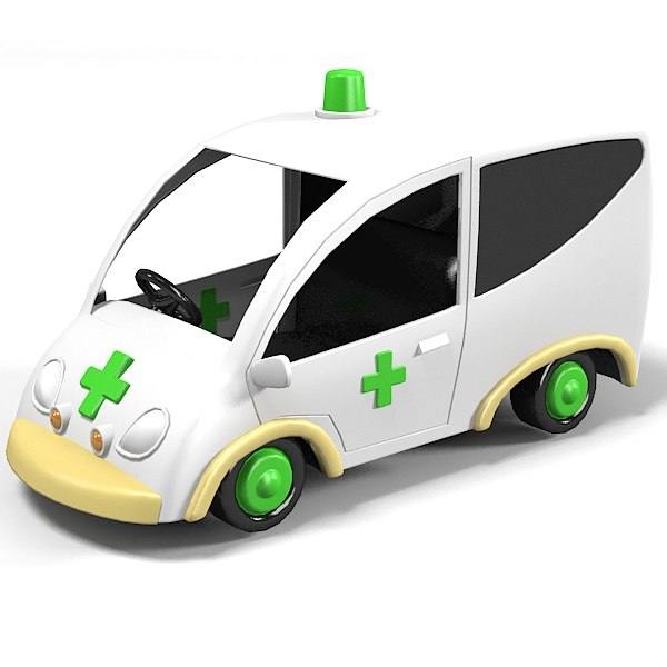 obj ambulance car vehicle