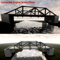bridge spans scene 3d max