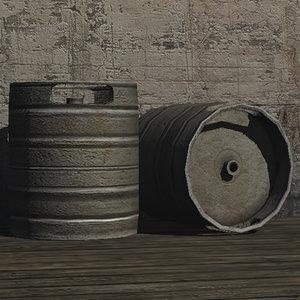 beer keg prop 3ds