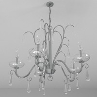 obj contemporary 5 chandelier light