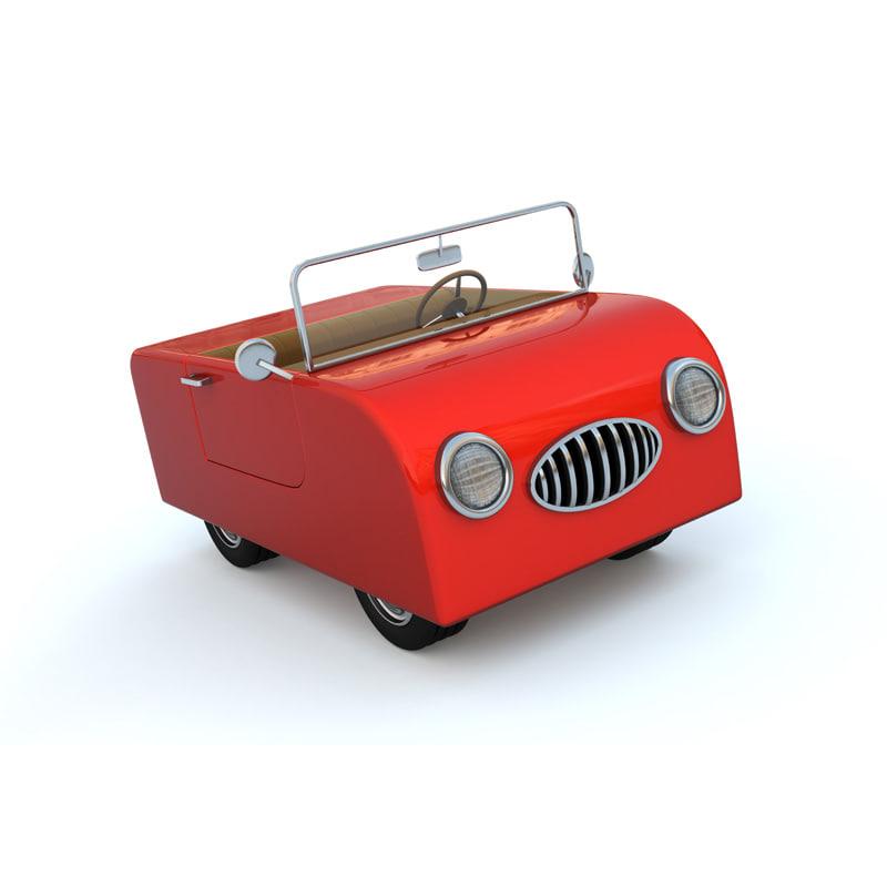 3ds max cute cartoon car