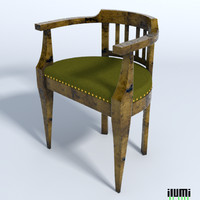 baroque style chair 3d model