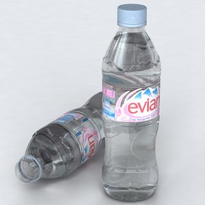 evian bottle water 3d 3ds