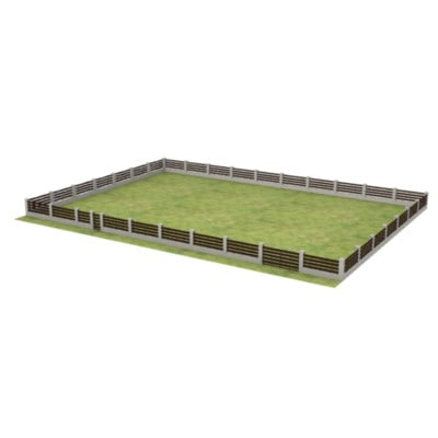 fence large grass 3d model
