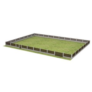 fence large grass 3d model