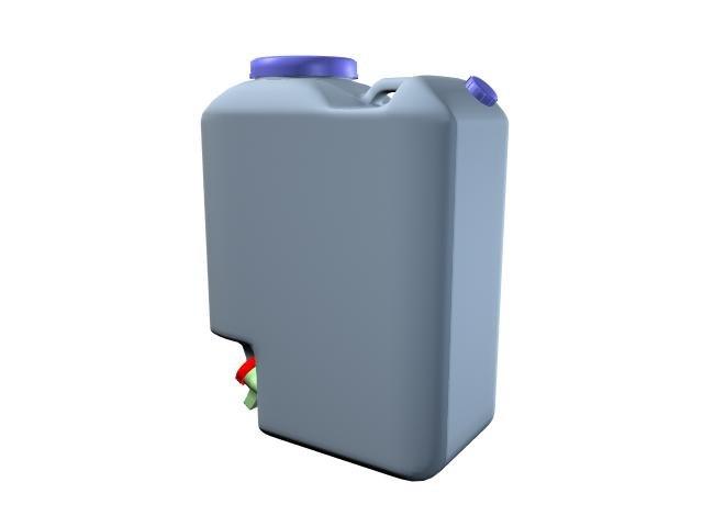 gallon water 3d max