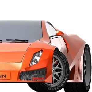free car sport 3d model