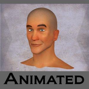 3d model rigged head