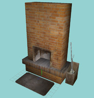 fire-place place 3d model