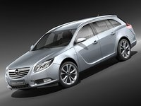 3d model opel insignia sports tourer