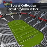 Soccer Collection Bowl Stadium 2 Tier