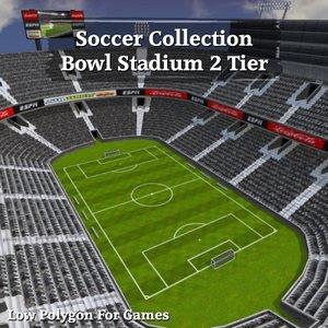 soccer bowl stadium 2 3d model
