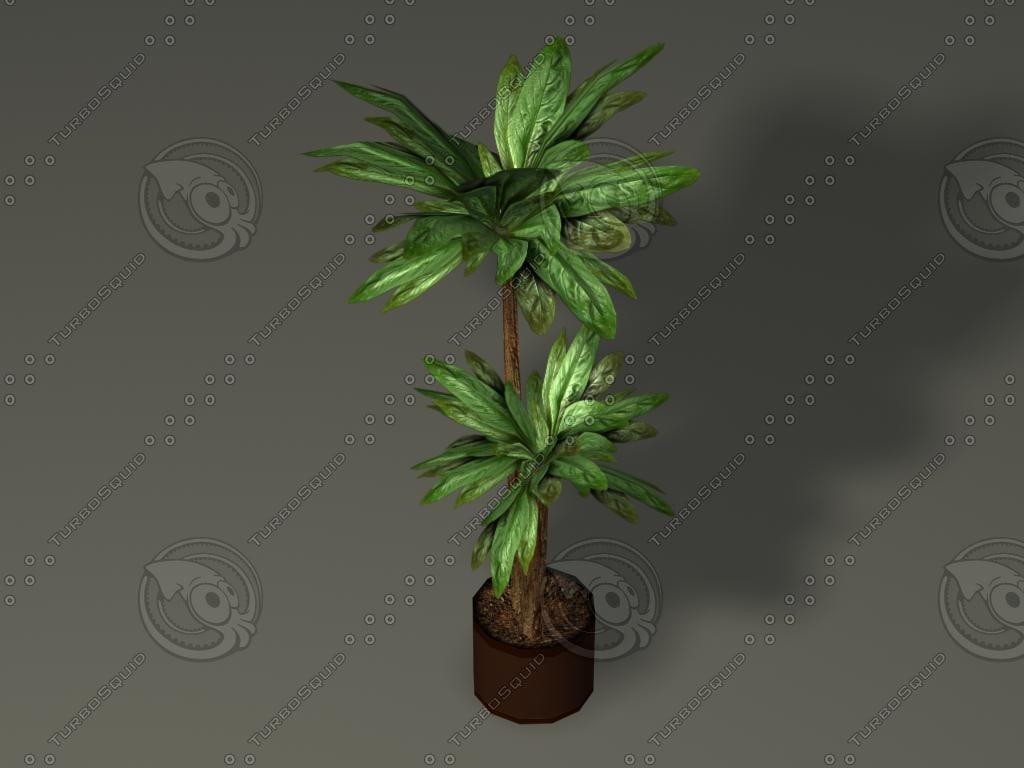 potted plants series 01 obj