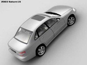 saturn ls sedan 3d model