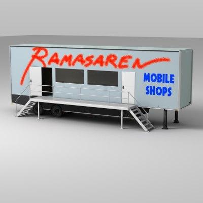 trailer-shop mobile 3d 3ds