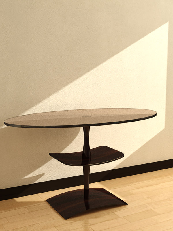 3d model table oval