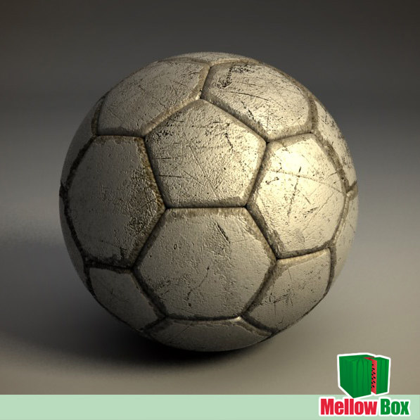 old soccer football ball 3d model