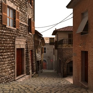 lane mountain village 3d max