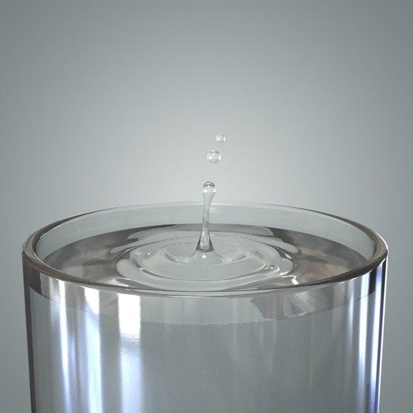 water splash drop 3d model