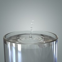 water splash drop 3d model