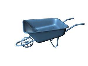 3d wheelbarrow model