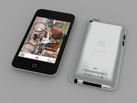 apple ipod touch 3d model