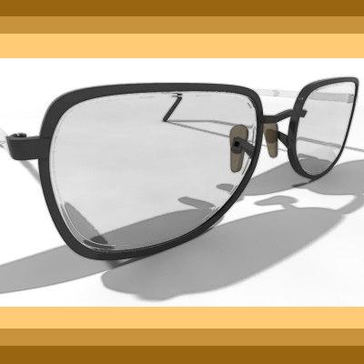 3d model of reading glasses sunglasses