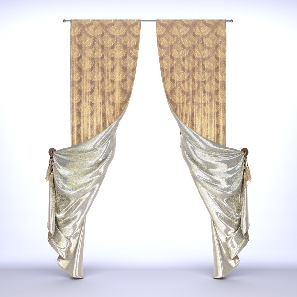 classical curtain - 3d 3ds