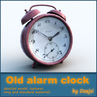 old alarm clock 3d obj