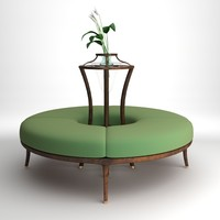 Round Bench with flowers