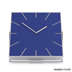 free 3ds model clock diamantini domeniconi snap