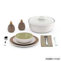 Heath ceramics dinnerware and flatware