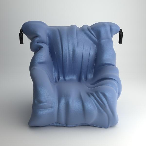 3d shadow chair meritalia armchair model