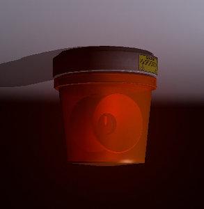red alarm light 3d obj