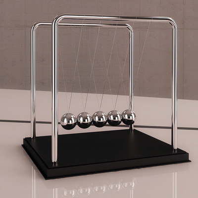 3d newton s cradle model