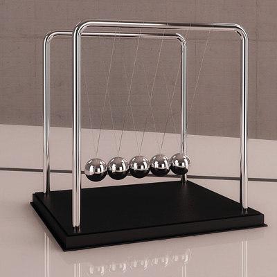 3d newton s cradle model