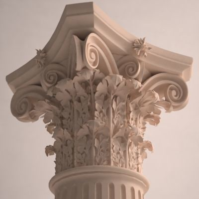 corinthian column 3d max