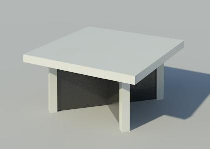 3d rfa square coffee table